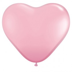 """PINK HEART 6"""" STANDARD (100CT)"""