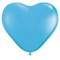 "PALE BLUE HEART 6"" STANDARD (100CT)"