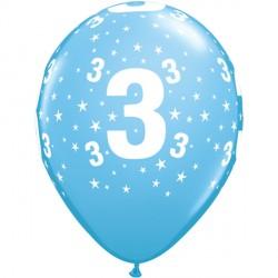 "STARS 3-A-ROUND 11"" PALE BLUE (6X6CT)"