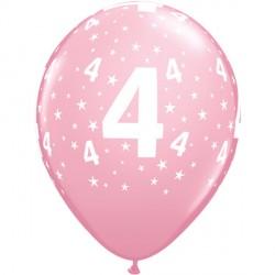 """STARS 4-A-ROUND 11"""" PINK (6X6CT)"""