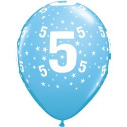 "STARS 5-A-ROUND 11"" PALE BLUE (6X6CT)"