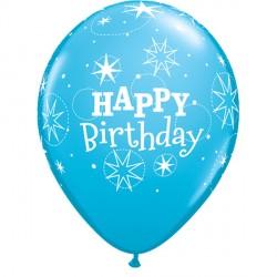"SPARKLE BIRTHDAY 11"" ROBIN'S EGG BLUE (6X6CT)"