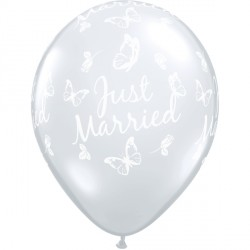 "JUST MARRIED BUTTERFLIES-A-ROUND 11"" DIAMOND CLEAR (25CT)"