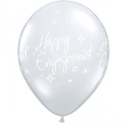 "ENGAGEMENT ELEGANT SPARKLES 11"" DIAMOND CLEAR (25CT)"