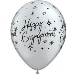 "ENGAGEMENT ELEGANT SPARKLES 11"" SILVER (6X6CT)"
