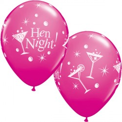"HEN NIGHT BUBBLY 11"" WILD BERRY (6X6CT)"