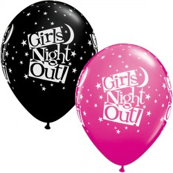 "GIRLS NIGHT OUT STARS 11"" WILD BERRY & ONYX BLACK (25CT)"