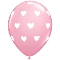 "BIG HEARTS 11"" PINK (6X6CT)"
