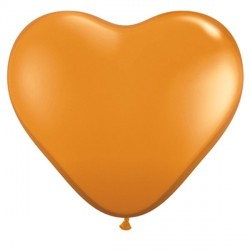 "MANDARIN ORANGE HEART 6"" JEWEL (100CT)"