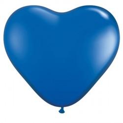 "SAPPHIRE BLUE HEART 6"" JEWEL (100CT)"
