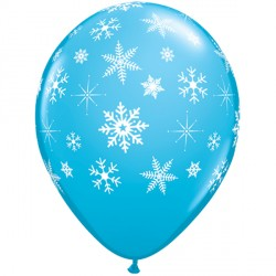"""SNOWFLAKES & SPARKLES-A-ROUND 11"""" ROBIN'S EGG BLUE (25CT)"""