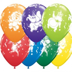 "PARTY ANIMALS 11"" CARNIVAL ASSORTED (25CT)"