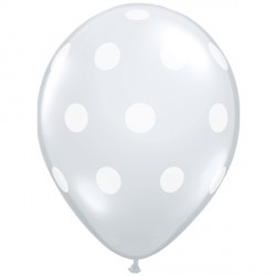 "BIG POLKA DOTS 5"" DIAMOND CLEAR (100CT)"