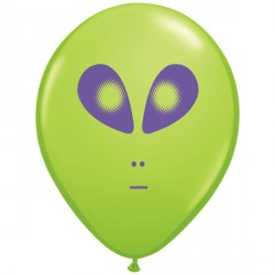"SPACE ALIEN 5"" LIME GREEN (100CT)"