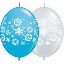 "SNOWFLAKES & CIRCLES QUICK LINK 12"" ROBIN'S EGG BLUE & DIAMOND CLEAR (50CT)"