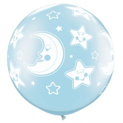 BABY MOON & STARS-A-ROUND 3' PEARL LIGHT BLUE (2CT)