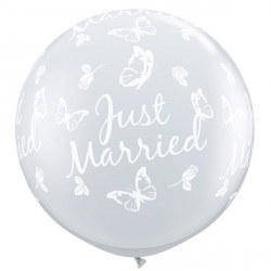 JUST MARRIED BUTTERFLIES-A-ROUND 3' DIAMOND CLEAR (2CT)