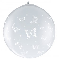 BUTTERFLIES-A-ROUND 3' DIAMOND CLEAR (2CT) NECK UP