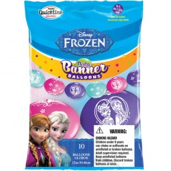 "FROZEN QUICK LINK PARTY BANNER 12"" (10CT)"