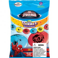"SPIDER-MAN ULTIMATE QUICK LINK PARTY BANNERS 12"" (10CT)"
