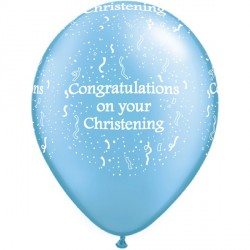"""CHRISTENING-A-ROUND 11"""" PEARL AZURE (50CT)"""