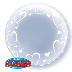 "STYLISH HEARTS 24"" DECO BUBBLE"