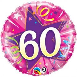 "60 SHINING STAR HOT PINK 18"" PKT"