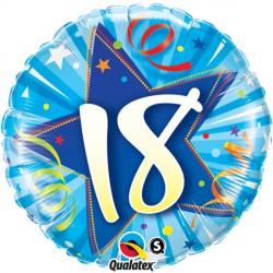 "18 SHINING STAR BRIGHT BLUE 18"" PKT"