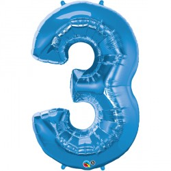SAPPHIRE BLUE NUMBER 3 SHAPE GROUP D