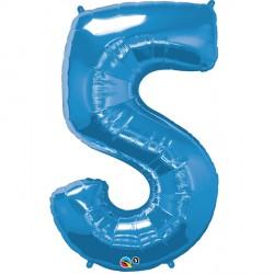 SAPPHIRE BLUE NUMBER 5 SHAPE GROUP D