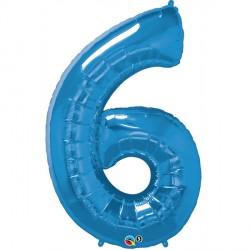 SAPPHIRE BLUE NUMBER 6 SHAPE GROUP D