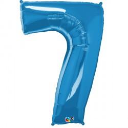 SAPPHIRE BLUE NUMBER 7 SHAPE GROUP D