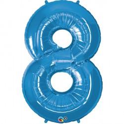 SAPPHIRE BLUE NUMBER 8 SHAPE GROUP D