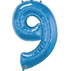 SAPPHIRE BLUE NUMBER 9 SHAPE GROUP D