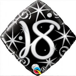 "18 ELEGANT SPARKLES & SWIRLS 18"" PKT"