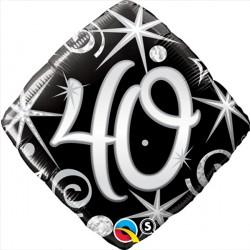 "40 ELEGANT SPARKLES & SWIRLS 18"" PKT"