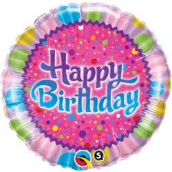 """BIRTHDAY SPRINKLES & SPARKLES 18"""" PKT"""