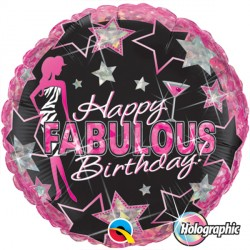 "BIRTHDAY FABULOUS 18"" PKT"