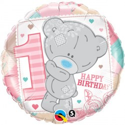 "ME TO YOU TINY TATTY TEDDY 1ST BIRTHDAY GIRL 18"" PKT"