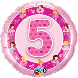 """AGE 5 PINK BALLERINAS 18"""" PKT"""