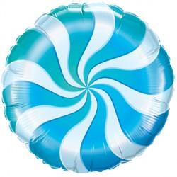 "CANDY SWIRL BLUE 18"" PKT"