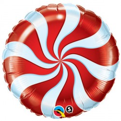 "CANDY SWIRL RED 18"" PKT"