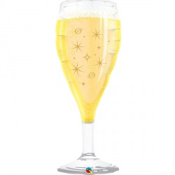 "BUBBLY WINE GLASS 39"" SHAPE GROUP B PKT"