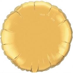 "GOLD ROUND 18"" FLAT Q"