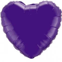 "QUARTZ PURPLE HEART 4"" FLAT Q"