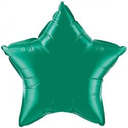 """EMERALD GREEN STAR 9"""" FLAT Q"""