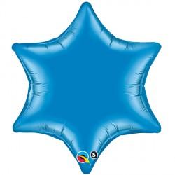 "SAPPHIRE BLUE 6-POINT STAR 22"" FLAT"