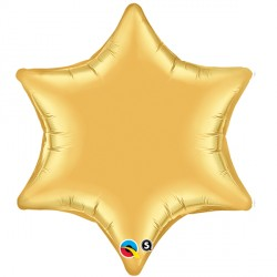 "GOLD 6-POINT STAR 22"" FLAT"