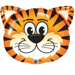 "TICKLED TIGER 14"" MINI SHAPE INFLATED WITH CUP & STICK"