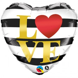 "L ( ) VE HORIZONTAL STRIPES 18"" PKT"